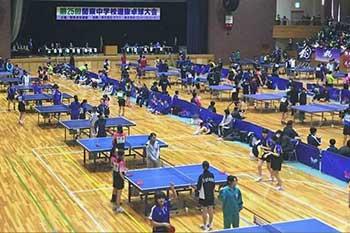 関東中学校選抜 卓球大会出場